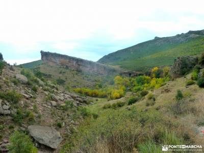 Valle de los Milagros-Cueva de la Hoz; rutas senderismo navacerrada excursiones comunidad de madrid